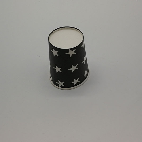 Black paper coffee cups