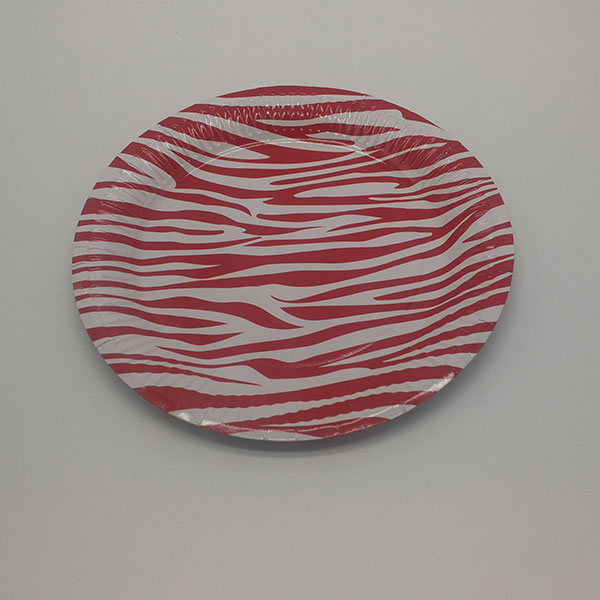 Color pattern party paper plates