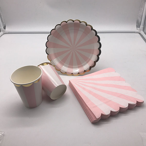 Fancy paper tableware