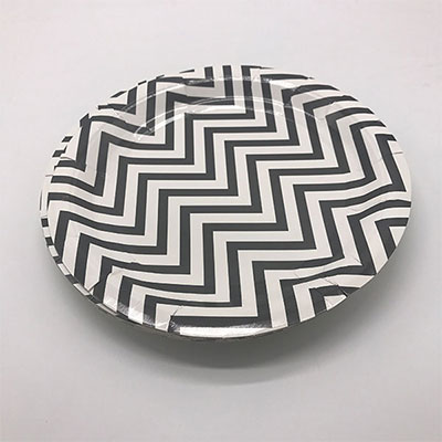 Mini paper cups supplier_Black and white paper plates